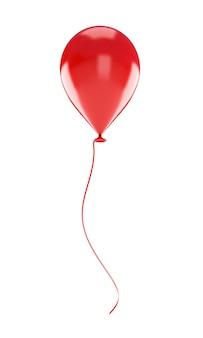 分離された赤い風船