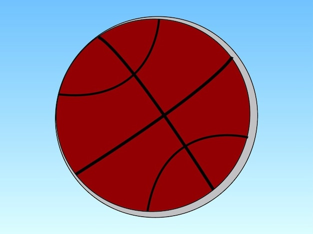 Red basketball competition logo vector