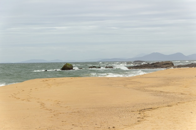 Red beach lookout in penha santa catarina
