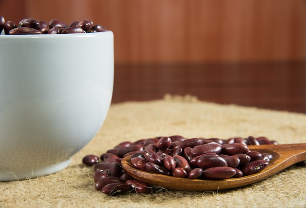 Red bean in cup
