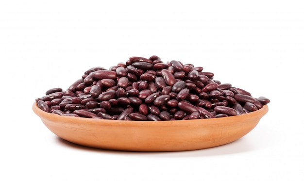 Red bean isolated on white