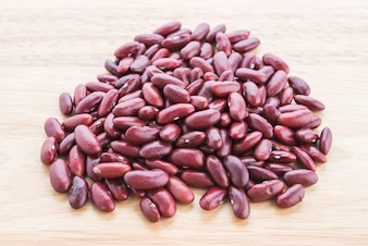 Red bean on wooden background