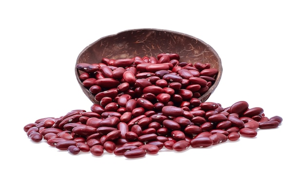Red beans isolated on white