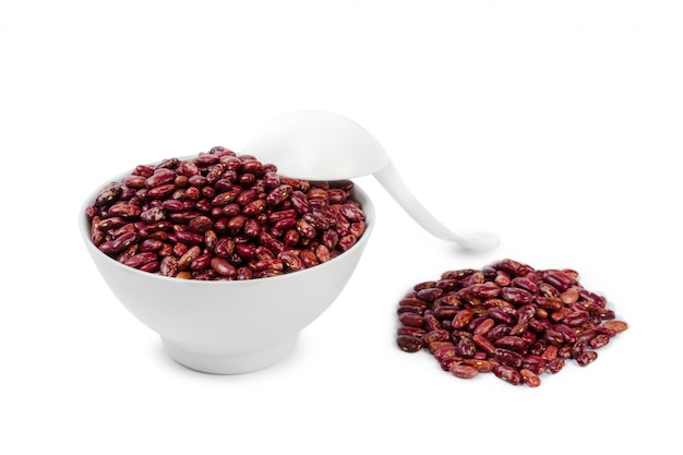 Red beans isolated