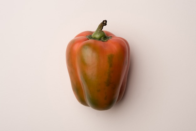 Red bell pepper isolated