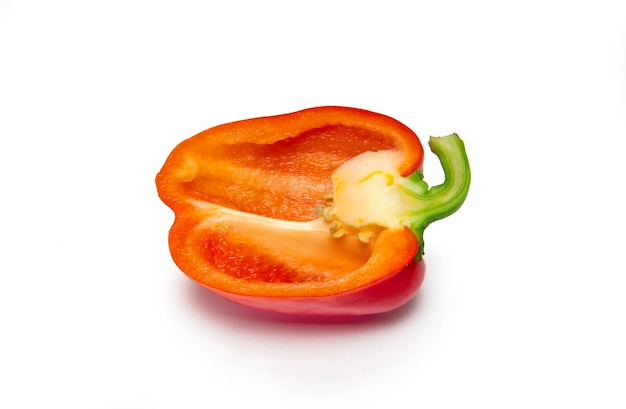 Red bell pepper on white background. isolate