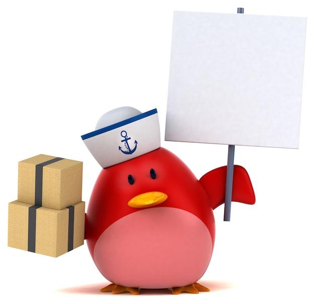 赤い鳥-3dキャラクター
