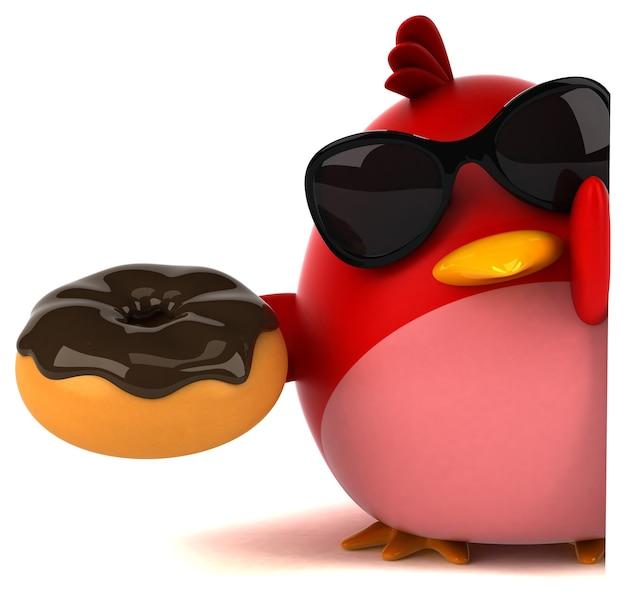 Красная птица - 3d персонаж
