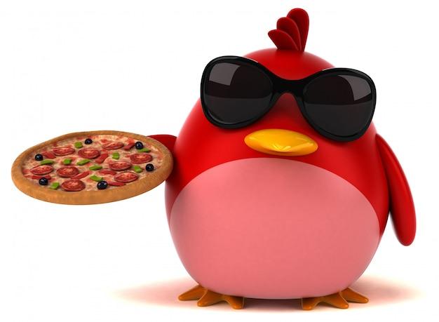 赤い鳥の3 dイラストレーション