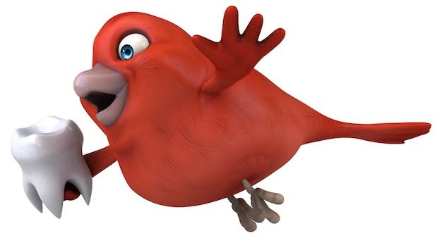 Red bird illustration