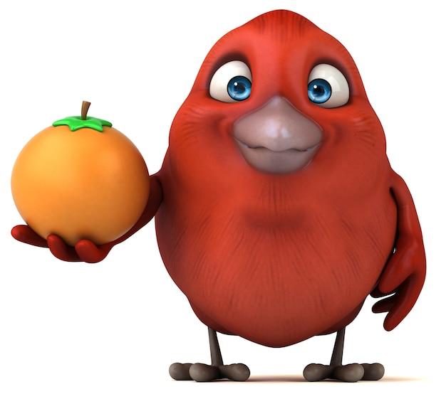 赤い鳥のイラスト