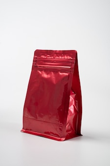 Red blank standing pouch