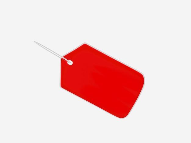 Красный пустой тег или ценник изолированные