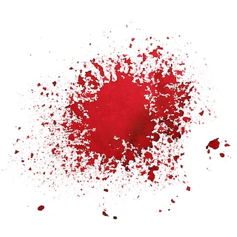 Red blot isolated over the white background