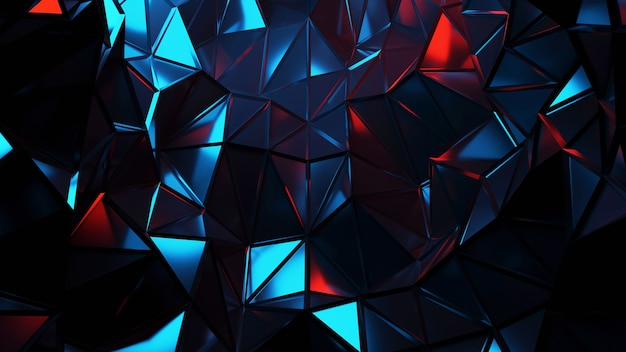 Red, blue and black abstract geometric shapes background