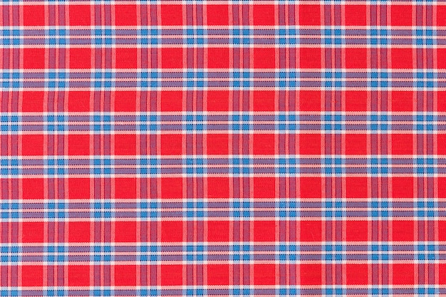 Red and blue checkered pattern texture background