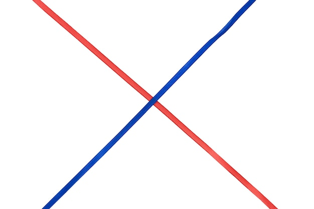 Red and blue cross ribbon. high quality photo