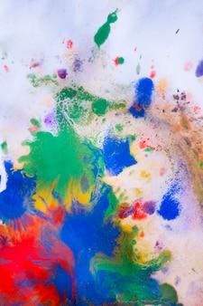紙に描かれた赤、青、緑、黄色の色が伝えられます