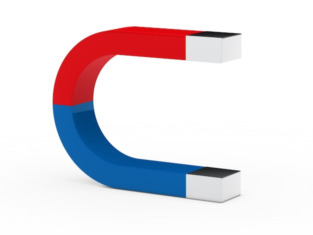 Red and blue magnet