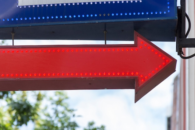 Red and blue street arrows