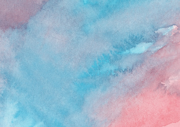 Red and blue watercolor background
