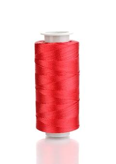白地に赤い下糸