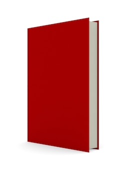 Красная книга на белом фоне. изолированная 3-я иллюстрация