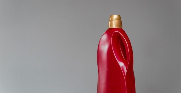 Red bottle of sanitary ware cleaner