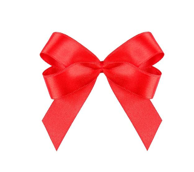 赤の弓、白で隔離