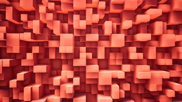 Red box abstract background