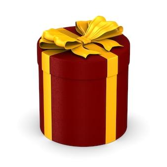 白地に金色の弓と赤いボックス