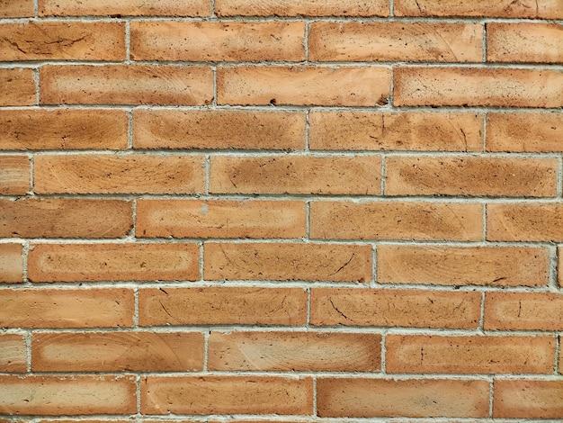 赤レンガのセメント壁