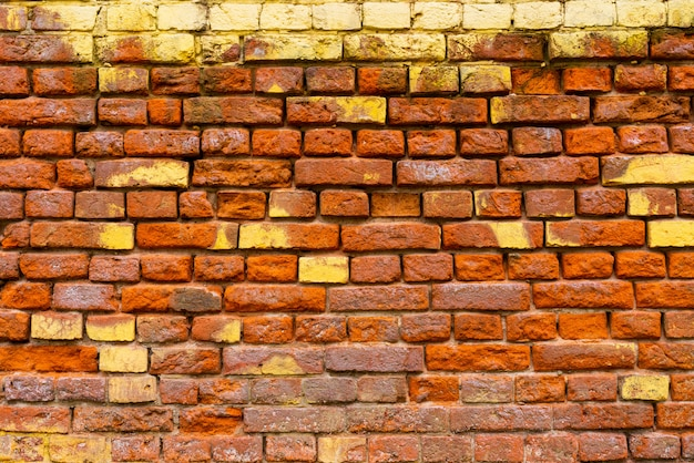 Red brick wall architectural background