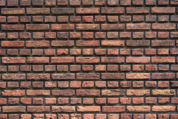 Red brick wall for background or texture. old red brick wall texture background
