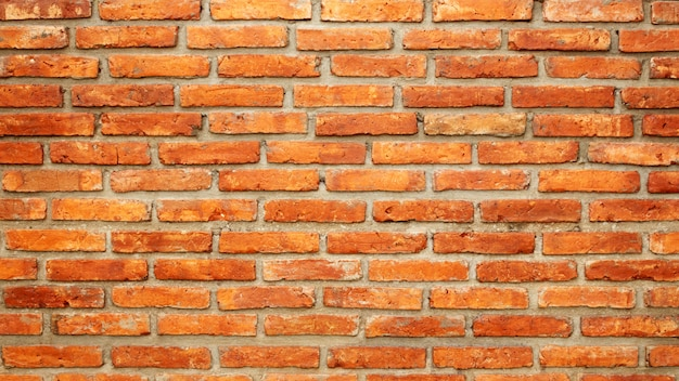 Red brick wall for a background