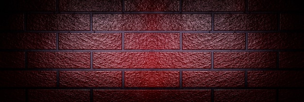 Red brick wall, panoramic mock-up image with space for text