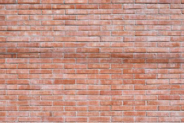 Red brick wall texture grunge background for interior design