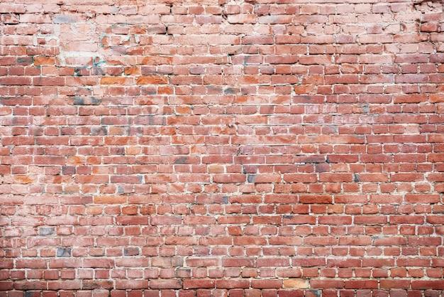 赤レンガの壁、石積みの広いパノラマ。