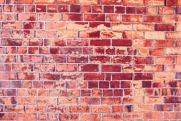 Red bricks wall background vintage and modern texture
