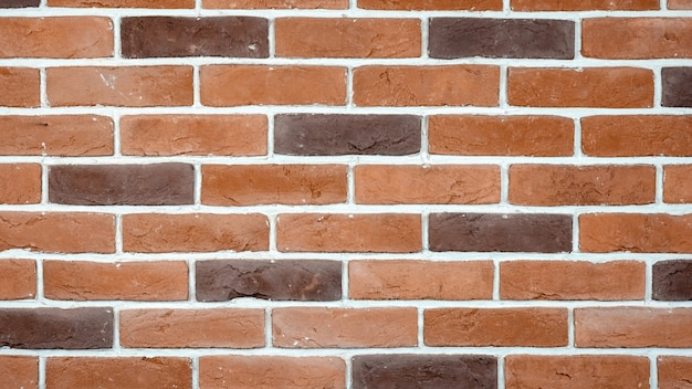 Red and brown bricks wall background
