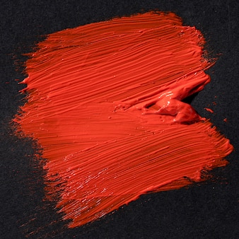 Red brush stroke abstract art