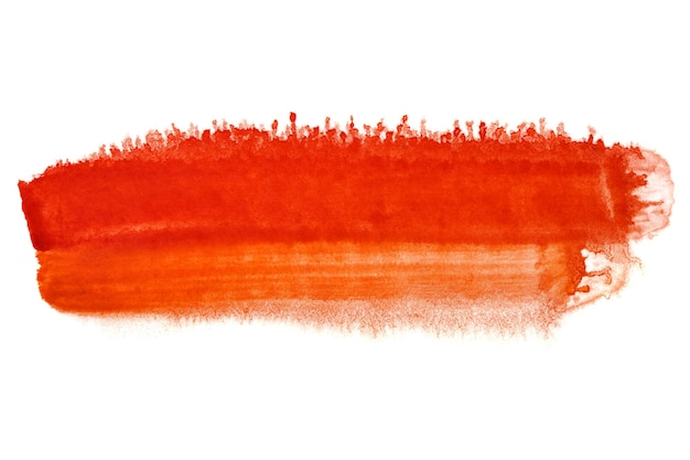 Red brush stroke - abstract watercolor background - space for your own text
