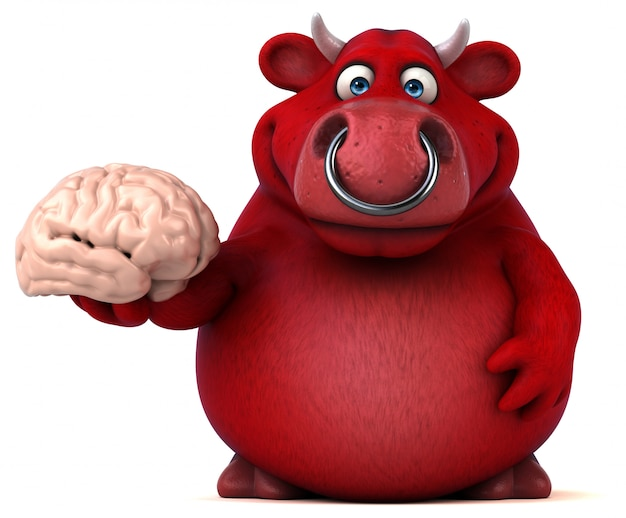 Красный бык анимация
