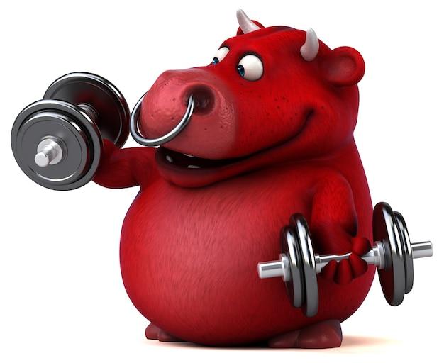 Красный бык иллюстрация