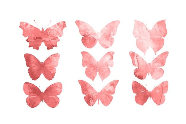 白い背景で隔離の赤い蝶。熱帯の蛾