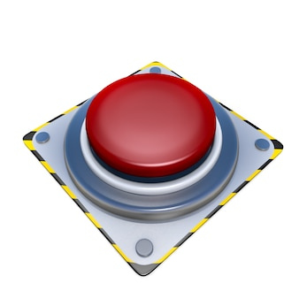 Red button electric  danger