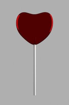 Красная конфета на палочке