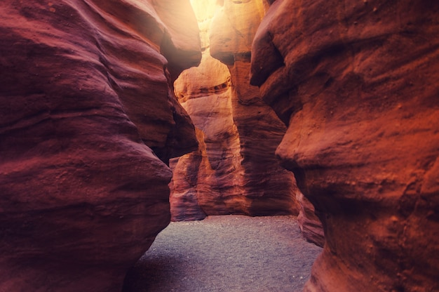 The red canyon. geological attraction in the eilat mountains