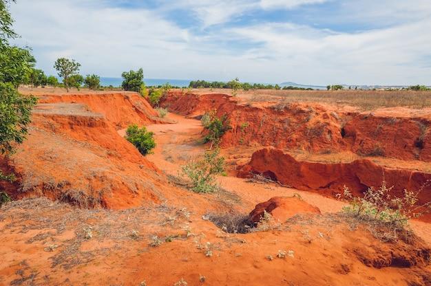 ベトナム南部ムイネー近郊の赤い峡谷