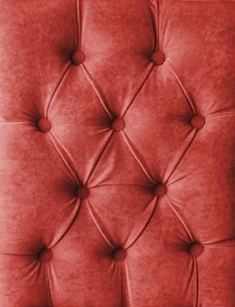 赤いcapitone市松模様の柔らかい生地の織物のコーチはボタンが付いている装飾をベロアします